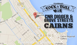 Find us on CNR of Digger & Grove Sts, Cairns